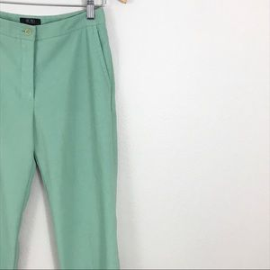 BCBGMaxAzria 2 Dress Ankle Pants Green Straight